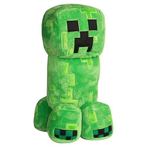 Minecraft Grand Creeper Peluche de 18 Pulgadas, Color Verde, 16 (889343078897)