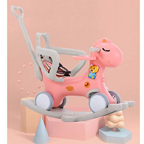 kids toys Cheval à Bascule Rocking Chair Double Usage Musique Poussette Multifonctions bébé Trojan Cheval à Bascule bébé Jouets en Plastique