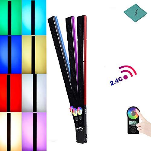 YONGNUO YN360III 5500K + RGB-Handheld-LED-Videoleuchte mit dimmbarem Fülllichtbalken und Touch-Einstellmodus CRI 95+ mit 10 zusätzlichen Beleuchtungsmodi mit Fernbedienung