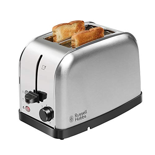 Russell Hobbs 18780 720/850 Watt Premium Stainless Steel 2 Slice Automatic Pop-up Toaster with 2 Year Manufacturer Warranty