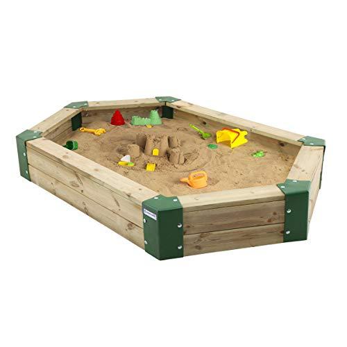 Sandkasten aus Holz, 6-eckig, Holzsandkasten ohne Abdeckung, Sandspielplatz, Sandbox