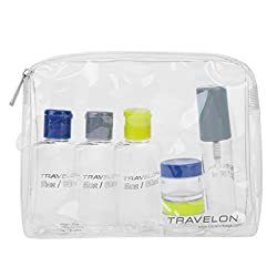 Quart sized bag with travel containers