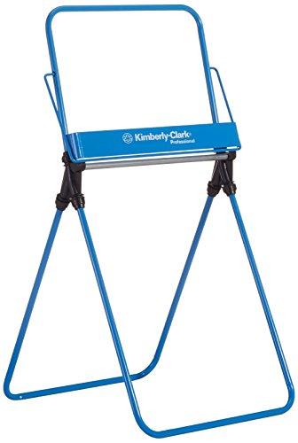 Kimberly-Clark Professional Dispensador de paños en rollo grande en soporte de suelo 6154, azul