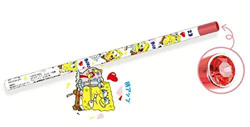 日本製 スポンジボブ ジュエリー鉛筆 ベスバディ SpongeBob ボブ 鉛筆 えんぴつ エンピツ 学校 勉強 文房具 映画 かわいい SB5523186BB