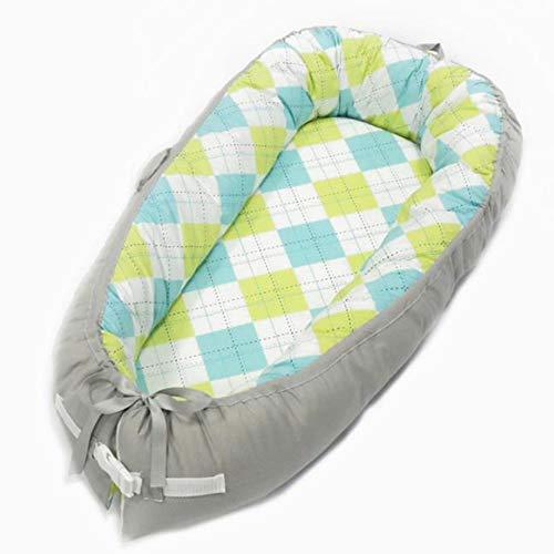 Y-nest Babynestchen Für Kinderbett,2 Seitig Kokon Babybett Nestchen Für Neugeborene 100% Baumwolle Kuschelnest Weiches Und Sicheres Baby-Reisebett,A