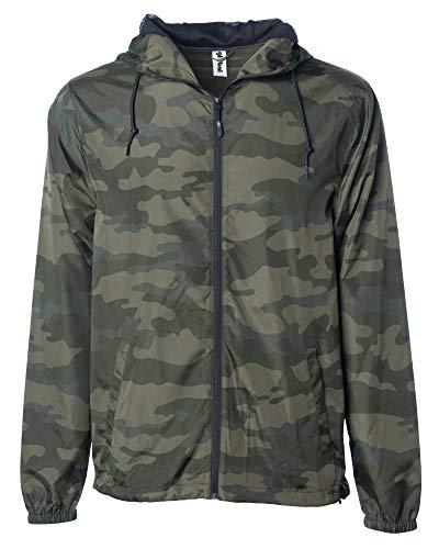 Global Blank Men's Lightweight Windbreaker Winter Jacket Water Resistant Shell Camoflauge