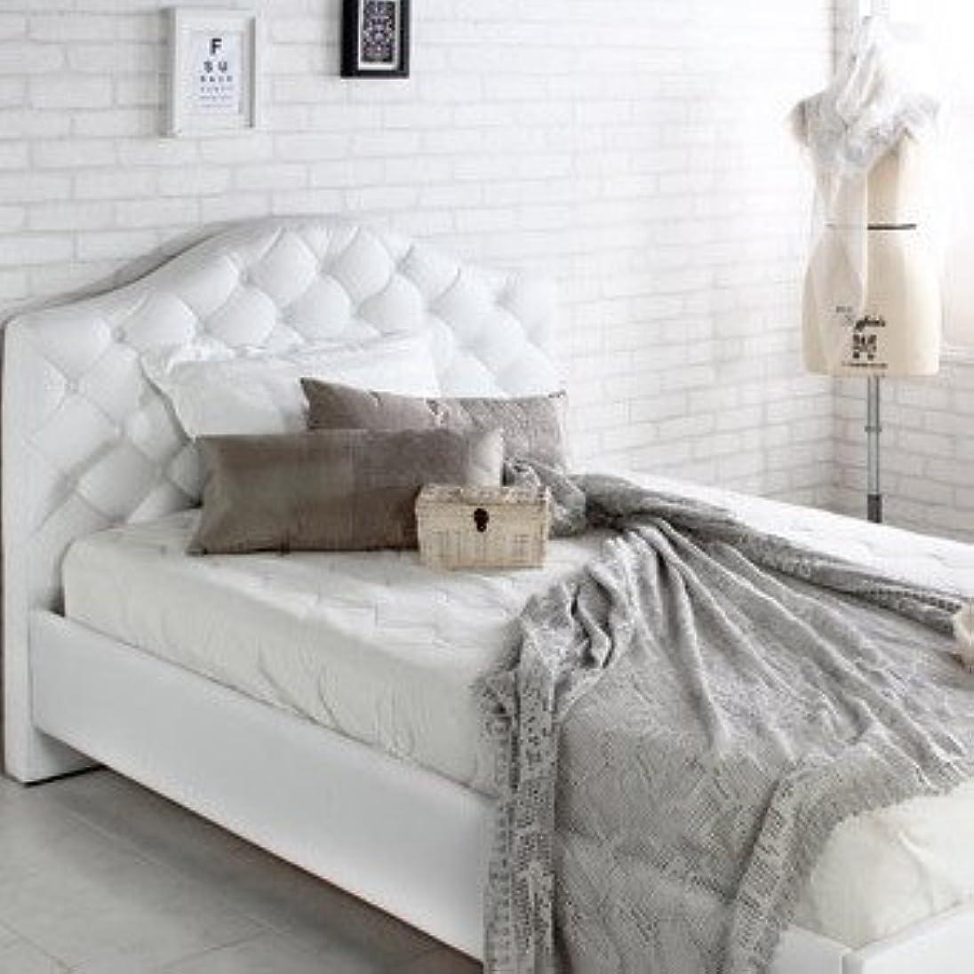 真空形成取り消すおしゃれな ホテル 白い ハイバック レザー すのこベッド 【フレームのみ マットレス無し】 セミダブル