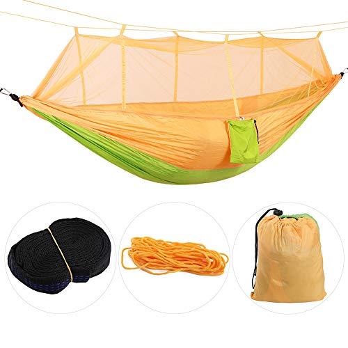 Mumusuki Outdoor camping hangmat met muggennet, sterke parachutestof hangbed schommel voor rugzaktochten wandelen reizen yard outdoor activiteiten