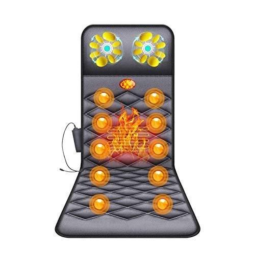 Barir Almohadilla de Masaje eléctrica Cojín Cojín Vibración Masajeador Plegable Relajación de Cuerpo Completo Control Remoto con calefacción Trasera