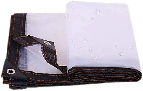 XQHD Aislamiento, A Prueba De Polvo, A Prueba De Lluvia, Cubierta Impermeable para Plantas, Lona De Lona Transparente, Lona De Plástico Transparente Engrosamiento Borde Perforado,9x18Ft/3x6m