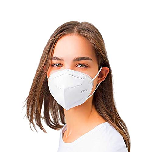 Mediweave Premium KN95 Face Mask, 5 layers,CE certified, (White, Pack of 5)