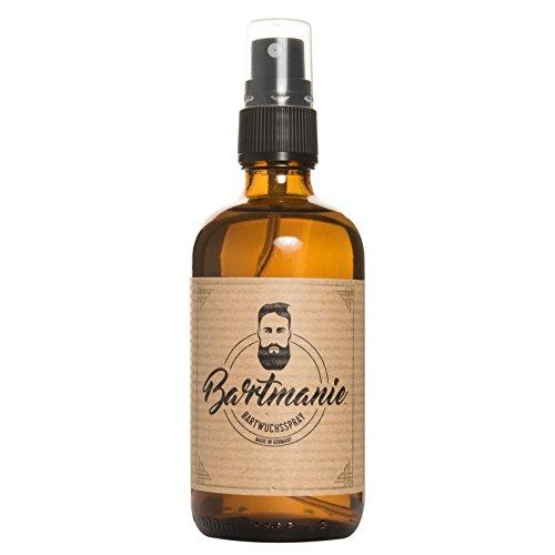 Bartmanie Bartspray zur Bartpflege und Förderung des Bartwuchses, Bartwuchsmittel für einen kräftigen und vollen Bart (100ml), von Venize