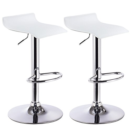 WOLTU Barhocker Design Drehstuhl Hocker Barstuhl Lounge Bar Hocker 2X Weiß BH11ws