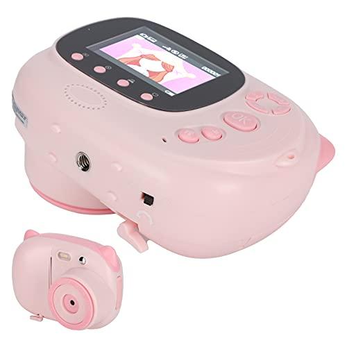 プリントカメラ、WiFi機能子供用プリントビデオカメラ子供用高解像度セルフィー用女の子用写真撮影用(pink, Pisa Leaning Tower Type)