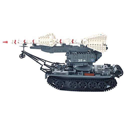 CYGG Kit de Modelo de Tanque, 1623 PCS Ejército Tank Toy Puzzle para Construir para niños, niñas, niños y Adultos, Moc PEQUEÑO Block Block Compatible Lego - SA-2 Tanque DE GUÍA