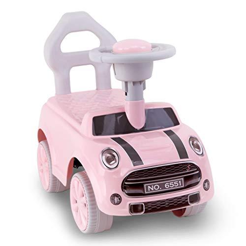 Enfants Twist Car Yo Car 1-3 Ans Bébé Scooter Jouet Voiture Enfant Voiture Balançoire Voiture Poussette Jouet FANJIANI (Couleur : Rose)