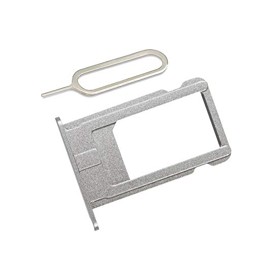 SIM Card Slot Holder Replacement Part for iPhone 6 Plus Incl Eject Pin + Cloth (Gray)