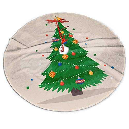 XZ-Sky Christmas Tree Skirt, Christmas Tree Rustic Or Stylish Xmas Tree Holiday Decorations, Ornaments for 2020 New Year 48 Inch