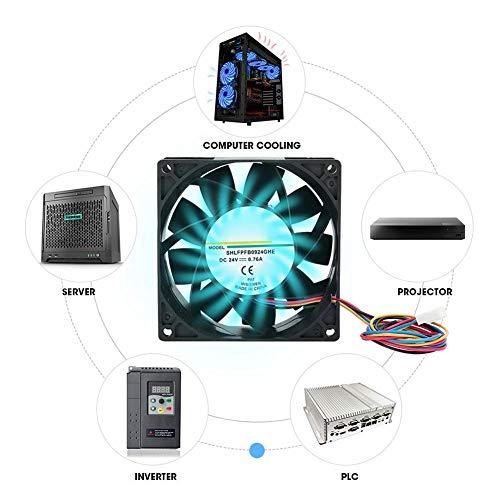 CPU-koelventilator Heatsink-ventilator, koelventilator 24V 0.76A 9CM-koelsysteem Industrieel accessoire voor mechanische apparatuur