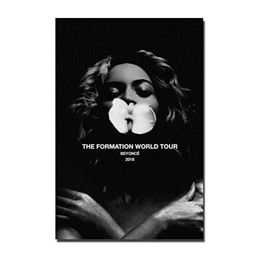 NRRTBWDHL Beyonce World Tour Musikstar Sänger Kunstplakat Leinwand Malerei Wohnkultur Poster und Drucke -50x70cm Kein Rahmen
