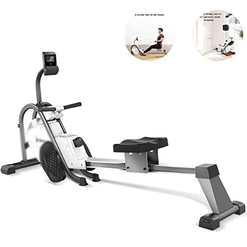 XBSLJ Foldable Rowing Machines Rowing Machine Household Magnetic Control Folding Rowing Machine, Men and Women Weight Loss Fitness Rowing Machine, Silent Rehabilitation Training Fitness Equipment