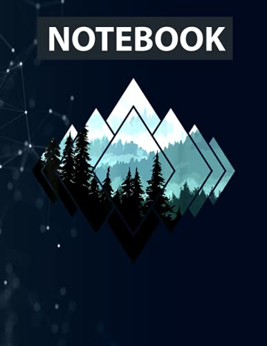 Forest Nature Mountains Trekking Hiking Camping Outdoor Notebook / 130 pages / US Letter Size