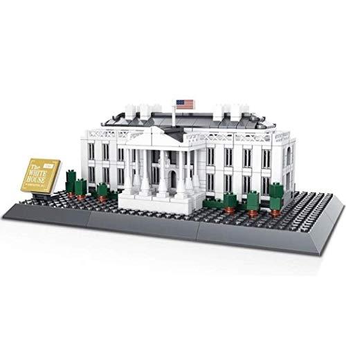 WANGE Weisses Haus in Washington. Architektur Modell zum Bauen.