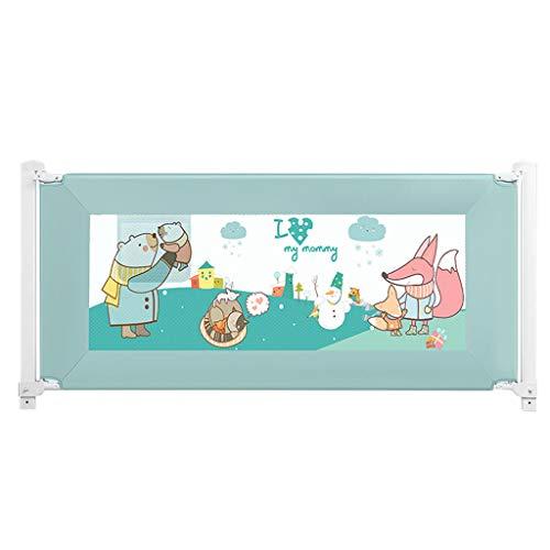Barrières de lit Garde-Corps de sécurité pour bébé/Garde-Corps Mom Helper pour Tout-Petits, Levage Vertical, Hauteur de réglage de la Protection antichute (72~93 cm), Vert