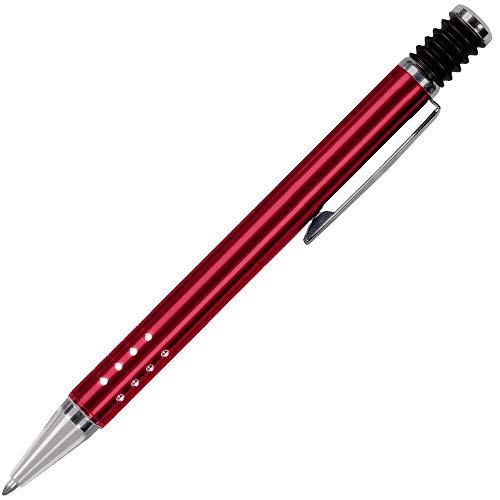 Daytona Bolígrafo para Regalar (Tecnologia y Garantía Alemana)· Boligrafos Elegantes con cuerpo Metálico en Rojo y Pulsador de Goma · Boligrafos para Regalar Economicos y Originales