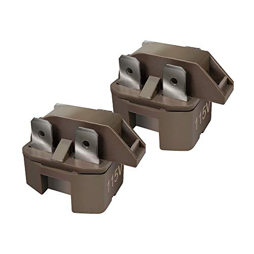 Runner Refrigerator Freezer Compressor PTC Start Relay for Frigidaire Gibson GE Whirlpool Ropper Kenmore Replaces 32330 WP2262185 WR07X26748 4387913 216594300 (2 Pack)