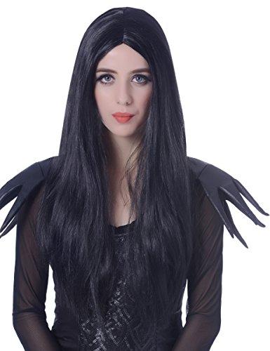 Perruque longue noire femme - 60cm