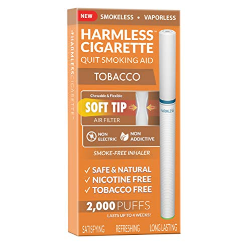 Quit Smoking | New - Safe & Natural Cigarette Replacement to Help Stop Cravings with Therapeutic Remedy | 100% Satisfying, Soft Tip Chewable - Made in USA