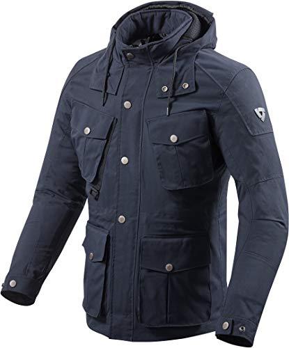 REV'IT! Motorradjacke mit Protektoren Motorrad Jacke Triomphe Textiljacke blau XL, Herren, Tourer, Ganzjährig