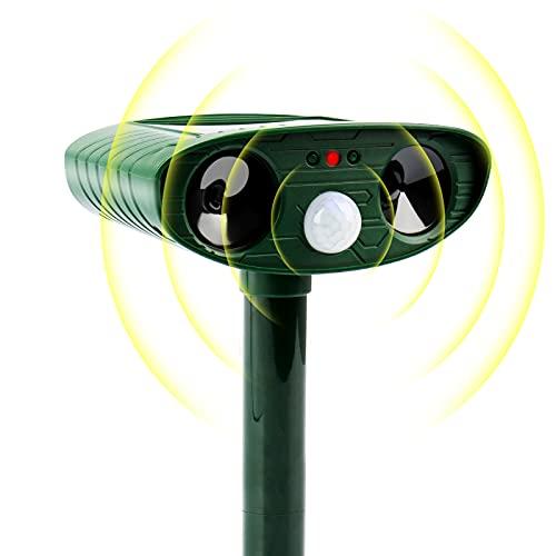 Solar Animal Repellent Defender, Cat, Dog, Rabbit, Rat, Squirrel, Deer, Raccoon, Skunk, with Motion Detector Waterproof Outdoor