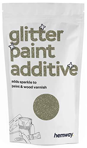 Hemway Glitzerlackzusatz Mischfarben auf Wasserbasis für Wand Decke - 100g - Champagner