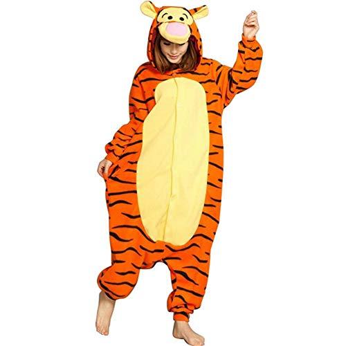 Pijamas de Franela Caliente Onesies Adulto Unisex One Piece Cosplay Ropa Fiesta Tigger Estilo Pijama para el Invierno