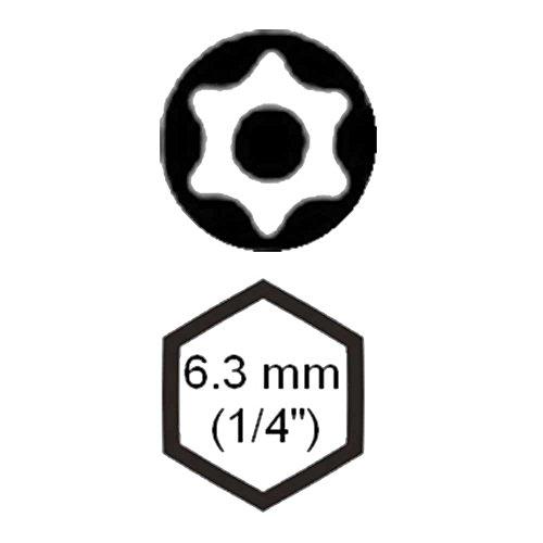 SW-Stahl TBM/4-T10 Embout de tournevis 6,3 mm