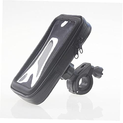 1pc Negro pantalla táctil de montaje de la bici impermeable del GPS del teléfono del caso para bicicleta de manillar sostenedor del bolso para el iPhone 6p, sostenedor del teléfono móvil del bolso