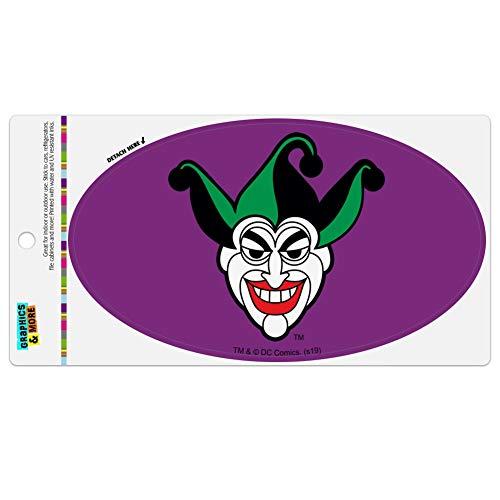 Graphics and More Batman Joker Symbol Automotive Car Refrigerator Locker Vinyl Euro Oval Magnet