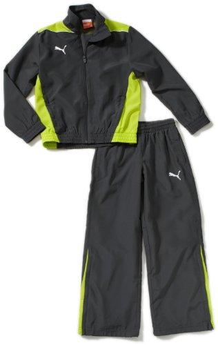 PUMA Kinder Trainingsanzug Foundation Woven Suit Präsentationsanzug, Dark Shadow/Lime Punch, 152