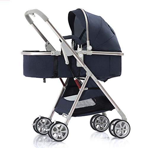 Kinderwagen, 2 in 1 cabriolet naar kinderwagen, kinderstoel met voetbescherming, grote opbergruimte, 5-punts harnas