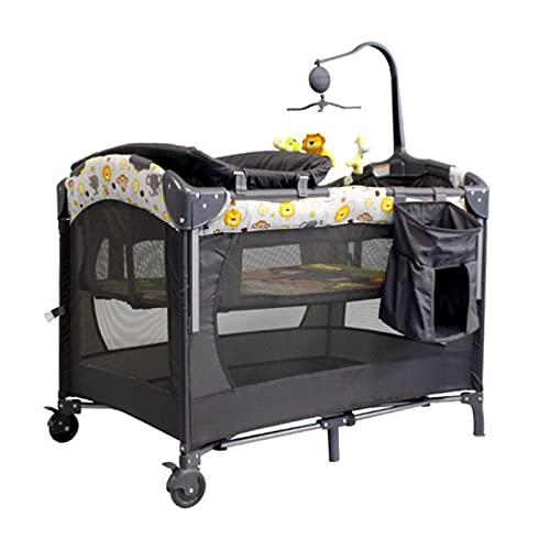 zcyg Cuna de Viaje Cuna De Bebé, Cuna De Estilo Europeo Costura Plegable Costa Grande Cama De Cabecera Recién Nacida Portátil Recién Nacido Bebé