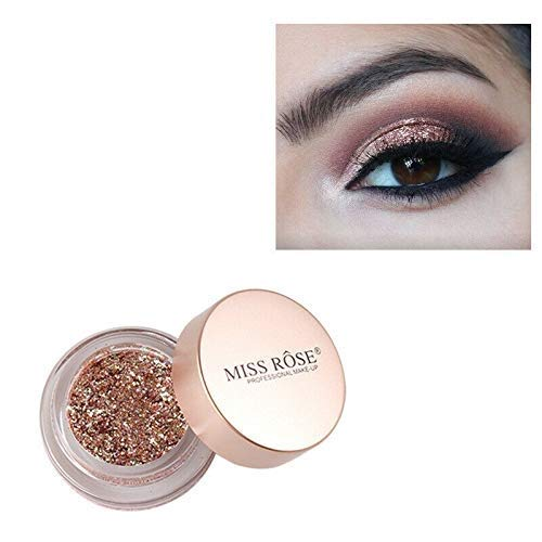Miss rose Waterproof Loose Powder Make-Up Eyes Dust Eye Shadows Shimmer Pigment, bronze, 7 g