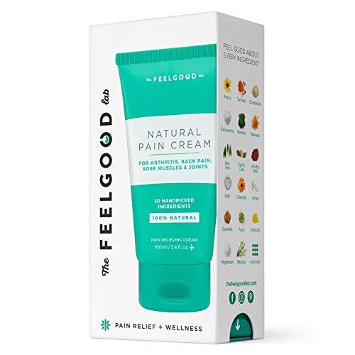 Natural Pain Cream – Powerful Pain Relief Cream for Arthritis Pain Relief, Neck Pain Relief, Joint Pain Relief, and Lower Back Pain Relief – by The Feel Good Lab (3.4oz, 1 Count)