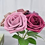 derblue artificial flowers combo realistic fake rose with stem for diy wedding bouquets centerpieces bridal shower party home decorations (series 4)