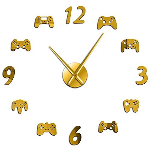 Controlador de juegos de vídeo DIY, reloj de pared gigante, Joystick de juegos, adhesivos Gamer Wall Art Video Gaming Signs Boy Bedroom Game Decoración para la casa para el salón