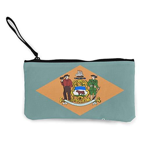 Delaware Geldbörse mit Staatsflagge, aus Segeltuch, für Münzen, Ausweis und andere