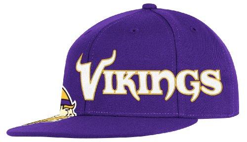 Reebok NFL Minnesota Vikings Ende Zone flach Visier Flex Hat–tw78z, Herren, violett