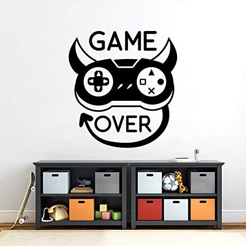 Etiqueta de la pared etiqueta del juego etiqueta de la máquina de juego de la habitación adolescente etiqueta de la pared del jardín de infantes etiqueta de la pared del niño -42x45cm