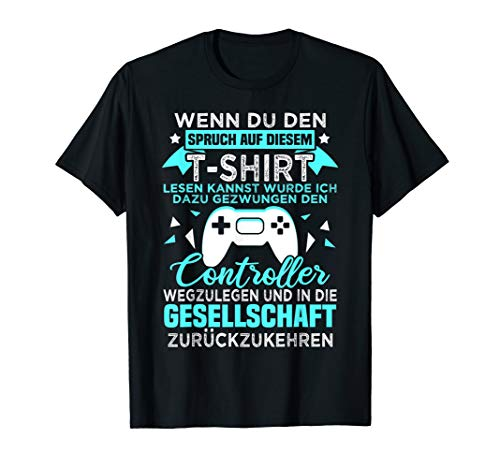 Gamer Zocker Games Pc - Lustiges Gaming Spruch T-Shirt